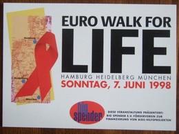 Euro Walk For Fashion Against AIDS Carte Postale - Salud
