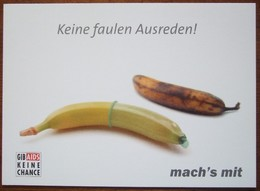 Gib AIDS Keine Chance Carte Postale - Salud