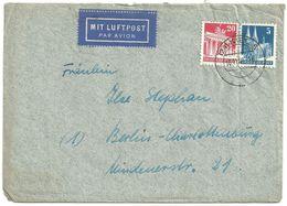 1948 Kiel Luftpostbrief Nach Berlin Mit 25 Pfg. Bauten - Bizone