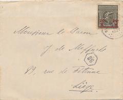 ZZ459 - JEUX OLYMPIQUES Belgique ANVERS 1920 - Lettre TP 20 C BLANKENBERGHE 1921 Vers LIEGE - Summer 1920: Antwerp