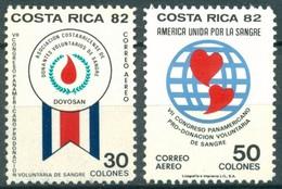 Costa Rica - 1982 - Yt PA 877/878 - Congrès Des Donneurs De Sang - ** - Costa Rica