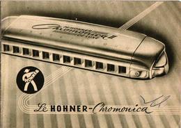 2 Brochure Mond Harmonika  Harmonica Hohner   Chromonica   Made In Germany - Publicités
