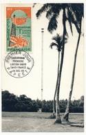 Papeete - PA YT N°16 - CARTE MAXIMUM - 60f. PAPEETE 29 Décembre 1965 Cinquantenaire Première Liaison Radio - Maximum Cards