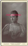 CDV Vers 1899-album GUISE-CLARET-Emilie GUISE Jolie Jeune Femme-photo Bellingard à Lyon--TB état - Photos