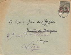 ZZ460 - JEUX OLYMPIQUES Belgique ANVERS 1920 - Lettre TP 20 C EECLOO 1921 Vers CINEY , Puis LIEGE - Summer 1920: Antwerp