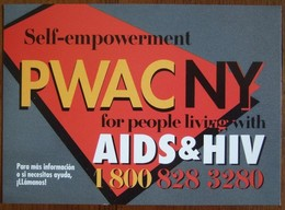 PWAC NY AIDS & HIV Carte Postale - Salud
