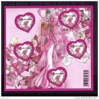 France  Bloc Feuillet Neuf Luxe ** 2009 N° 127 Saint Valentin Coeur Ungaro Faciale 4€ Lot Vendu Sous Faciale - Blocs & Feuillets