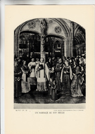 PLANCHE HISTOIRE DU PEUPLE FRANCAIS UN MARIAGE AU XVI SIECLE - Planches & Plans Techniques
