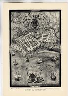 PLANCHE HISTOIRE DU PEUPLE FRANCAIS LE PORT DU HAVRE EN 1583 - Planches & Plans Techniques