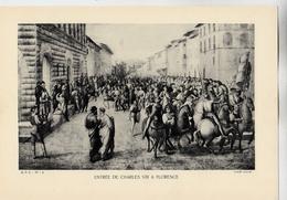 PLANCHE HISTOIRE DU PEUPLE FRANCAIS ENTREE CHARLES VIII FLORENCE - Planches & Plans Techniques