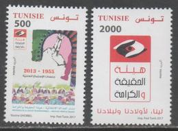 TUNISIA , 2017, MNH, TRANSITIONAL JUSTICE,2v - Stamps