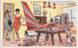 Bp - Cpa Illustrée L Carrière - Je Pensais Construire Un Modèle Réduit, Et Puis ... On Se Laisse Entraîner (avion) - Carrière, Louis
