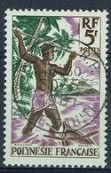 French Polynesia, Fisherman, 5f, 1958, VFU  Superb Postmark - French Polynesia