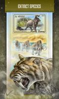 SIERRA LEONE 2018 MNH** Extinct Species Ausgestorbene Tiere Especes Disparues S/S - OFFICIAL ISSUE - DH1812 - Stamps