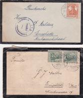 Germany Two Letters / Covers Send To Netherlands / Enschede Special Cancel Auslandstelle Emmerich - Duitsland