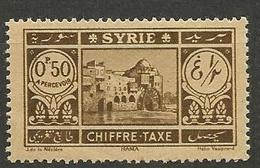 SYRIE TAXE  N° 32 NEUF* TRACE DE CHARNIERE TB / MH - Portomarken