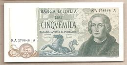 """Italia - Banconota Circolata SUP/SPL """"Colombo II Tipo"""" Da 5.000 Lire - 1971 - [ 2] 1946-… : Républic"""