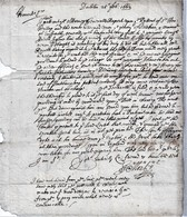 """1662 Letter From """"James Morley, Dublin"""" To """"John Morris, Flying Horse In Cornhill"""" With Fairly Good Bishopmark. Ref 0504 - Postmark Collection"""