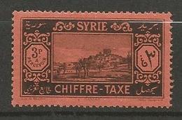 SYRIE TAXE  N° 35 NEUF* TRACE DE CHARNIERE TB / MH - Portomarken