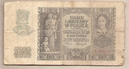 Polonia - Banconota Circolata Da 20 Zloty P-95a - 1940 - Polonia