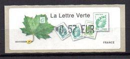 Vignette LISA  // Lettre Verte Test Imprimante // Paris 2010 - 2010-... Abgebildete Automatenmarke