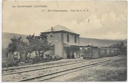 51. AY CHAMPAGNE.  GARE DU C.B.R.  AN 1915.  TRAIN - Ay En Champagne