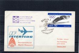 DDR, 1972, Luftpostbrief Berlin-Moskau-Chabarowsk-Sapporo Mit Michel 1730, Ol.-Spiele Sapporo - [6] République Démocratique