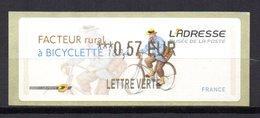 Vignette LISA  // Facteur Rural à Bicyclette  // 2011 - 2010-... Illustrated Franking Labels