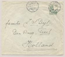 Nederlands Indië - 1922 - 20 Cent Wilhelminamet Scheepje, Enkelfrankering Op Brief Van Weltevreden Naar Den Burg / Texel - Indes Néerlandaises