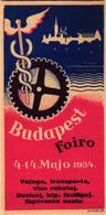 4 Vignettes  Foire International Boedapest  Esperanto  1932   1934  -1935- - Esperanto