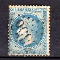 1862/1870- France Impire - Napoleon III With Laurels  - MI 28 - Used (vt34) - 1863-1870 Napoléon III. Laure