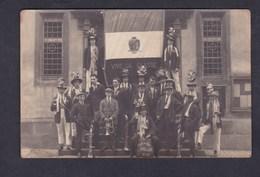 Carte Photo  Mauermann Bouxwiller (67) Groupe De Conscrits Vive La Classe 1928 Conscription - Bouxwiller