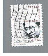 ITALIA REPUBBLICA  -  2008 CESARE PAVESE   - USATO ° - 6. 1946-.. Repubblica