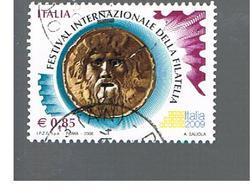 ITALIA REPUBBLICA  -  2008  FESTIVAL FILATELIA   - USATO ° - 1946-.. République