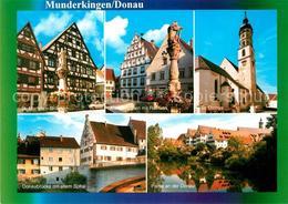 73182148 Munderkingen St Martins Brunnen Martinsbrunnen Mit Rathaus St Dionys Do - Deutschland