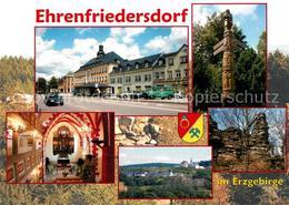 73182404 Ehrenfriedersdorf_Erzgebirge Markt Rathaus Wegweiser Schnitzereien Kirc - Ehrenfriedersdorf