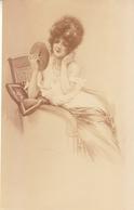 Gravure Maurice Millière Collection Déshabillés Parisiens 1920 Lib.de L'estampe Paris, Femme, Nu, Miroir, érotisme - Estampes & Gravures