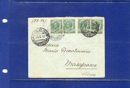 ##(DAN184/1)-1917- Bustina  Annullo Posta Militare 55^ Divisione Per La Contessa Maria Piccolomini A Malafrasca (Siena) - 1900-44 Vittorio Emanuele III