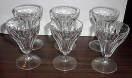 Lot De 6 Verres Anciens De Bistrot A Aperitif - Glasses