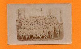 CPA DE 1917 - MILITARIA - WWI - POILUS - PELOTON DES PIONNIERS DU 122 REGIMENT - War 1914-18
