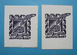 2 Ex-libris Jacques Biget - Ex-libris