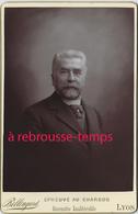 Très Beau Cliché Au Charbon-grand CDV-(CAB) Homme De Caractère -photo Bellingard Lyon-très Bel état - Anciennes (Av. 1900)