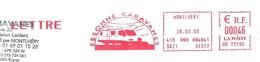EMA NEOPOST Type HB Avec Publicité Illustrée Camping-car - Essonne Caravanes (valeur En Euros) - Marcophilie (Lettres)