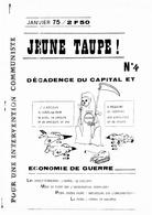 Revue JEUNE TAUPE 1975 - Politique