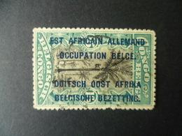 TIMBRE SURCHARGE EST AFRICAIN ALLEMAND  OCCUPATION BELGE   OBLITERE - 1916-22: Oblitérés