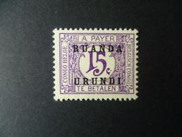 TIMBRE TAXE  NEUF SANS GOMME - Ruanda-Urundi