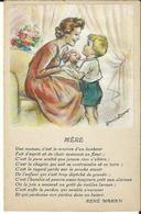 Dessin Germaine Bouret Et Poéme De René Maran - Bouret, Germaine