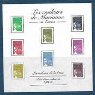 """BF**  67  2004    """"LES COULEURS DE MARIANNE En Euros""""    1/4 DE LA CÔTE - Personnages"""