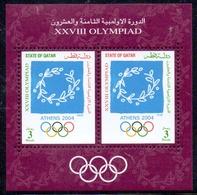 2004 QATAR Atlanta Olympic Games Souvenir Sheet MNH - Qatar