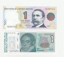 1 Peso &  Un Austral UNZ - Argentina